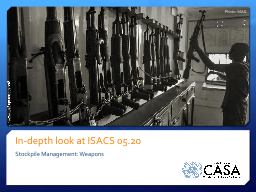 In-depth look at ISACS 05.20 PowerPoint PPT Presentation
