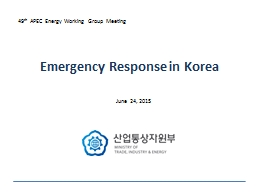 Emergency Response in Korea