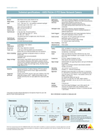 DATASHEET AXIS PE provides HDTV p in compliance with SMPTE M standard of  x  pix