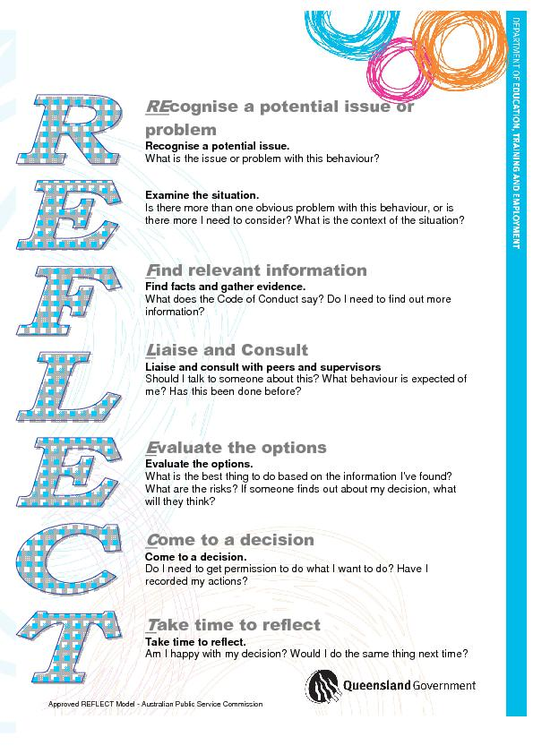 Approved REFLECT Model - Australian Public Service Commission PowerPoint PPT Presentation