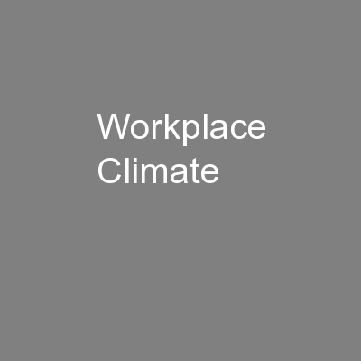 Workplace Climate