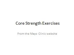 Core Strength Exercises PowerPoint PPT Presentation