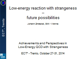 Low-energy reaction with strangeness