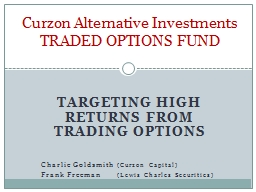Targeting high returns from trading options