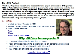 """""""The GNU Project is a free software, mass collaboration p"""