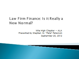 Law Firm Finance: Is