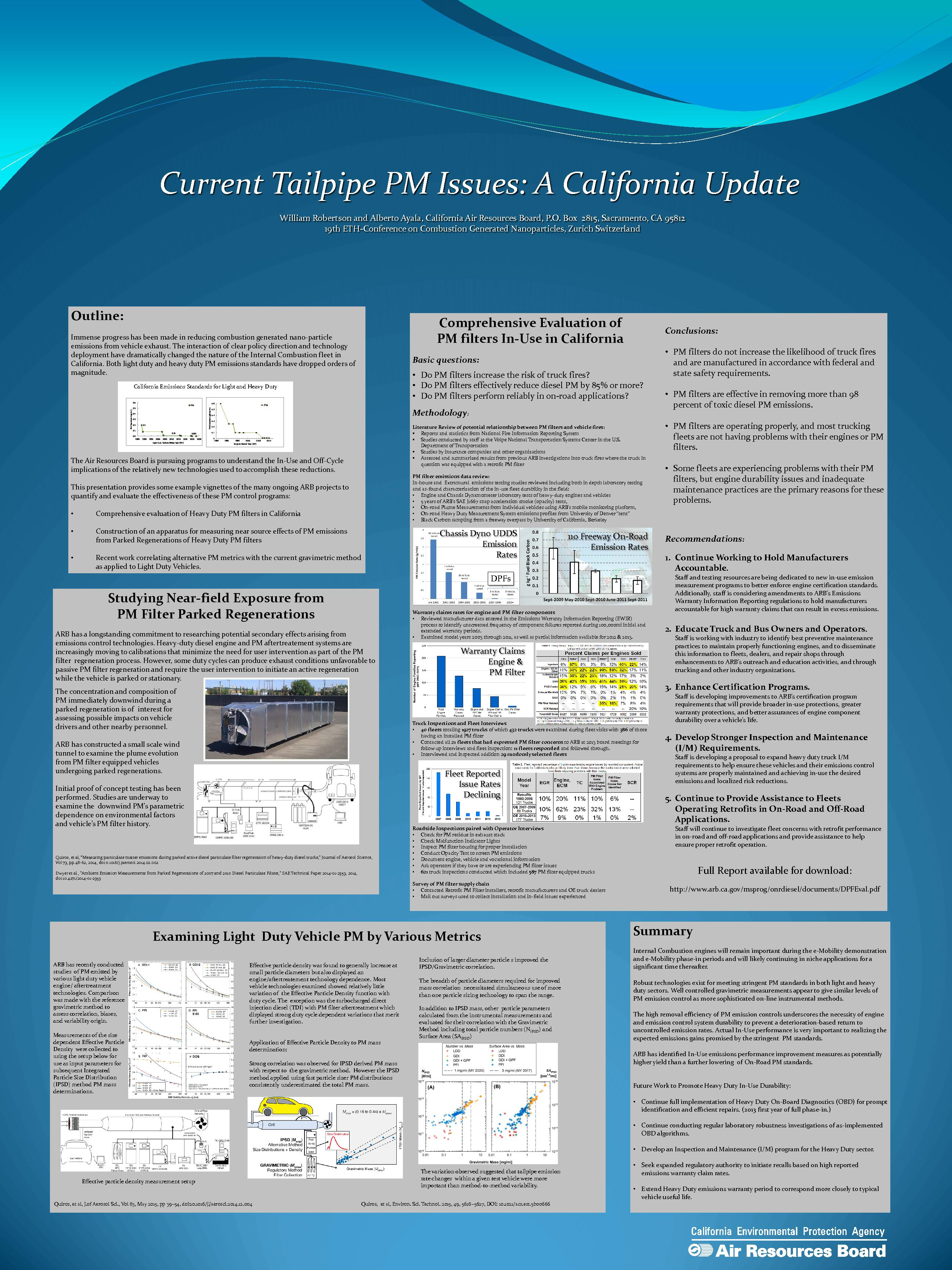 Current Tailpipe PM Issues: A California UpdateWilliam Robertson and A