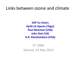 Links between ozone and climate