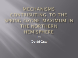 Mechanisms contributing to the Spring ozone maximum in the