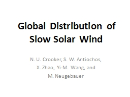 Global Distribution of Slow Solar Wind PowerPoint PPT Presentation