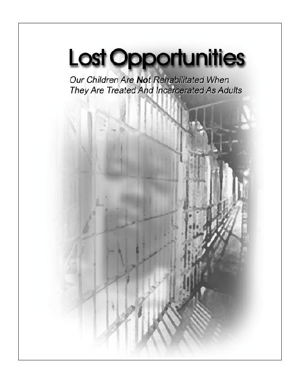 Lost OpportunitiesOur Children Are Not Rehabilitated When  They Are Tr
