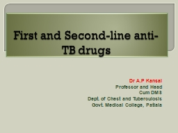 First and Second-line anti-TB drugs