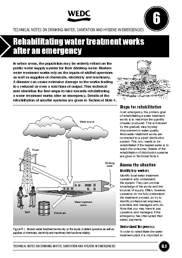 TECHNICAL NOTES ON DRINKING-WATER, SANITATION AND HYGIENE IN EMERGENCI