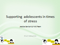 Supporting adolescents in times of stress