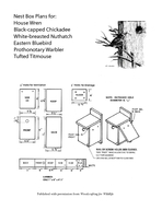 Nest Box Plans for House Wren Blackcapped Chickadee Whitebreasted Nuth