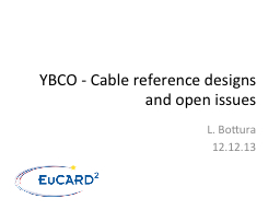 YBCO - Cable reference designs and open issues PowerPoint PPT Presentation