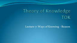 Theory of Knowledge