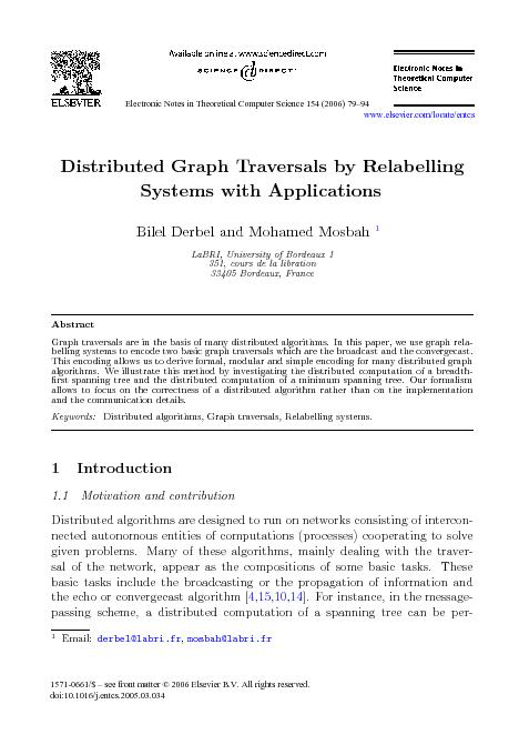 DistributedGraphTraversalsbyRelabellingSystemswithApplicationsBilelDer