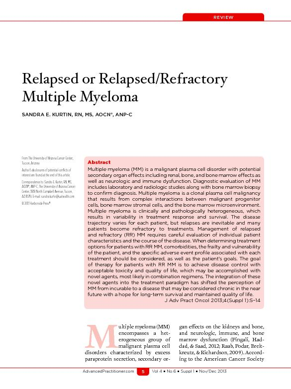 Relapsed or Relapsed/Refractory
