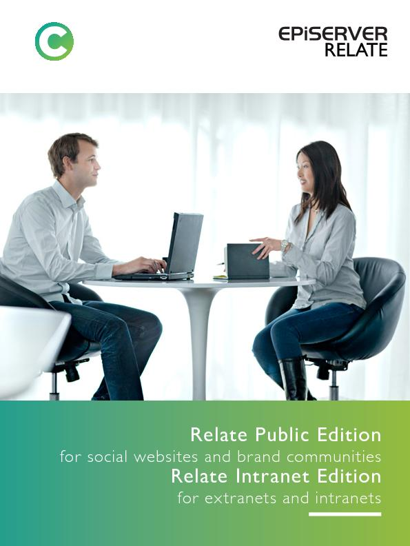 Relate Public Editionfor social websites and brand communitiesRelate I