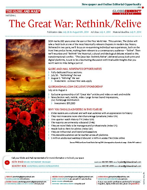 2014 marks 100 years since the start of the First World War.  This sum