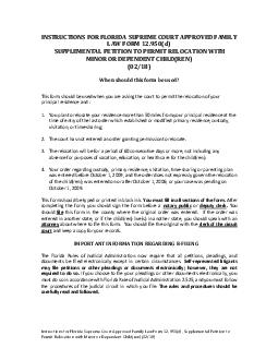 INSTRUCTIONS FOR FLORIDA SUPREME COURT APPROVED FAMILY LAW FORM 12.950