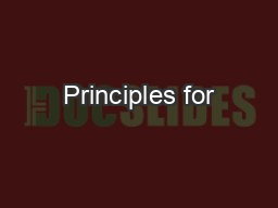 Principles for