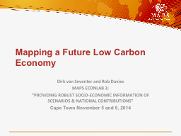 Mapping a Future Low Carbon Economy