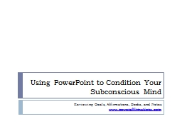 Using PowerPoint to Condition