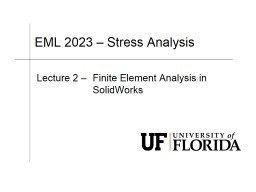 EML 2023 – Stress Analysis
