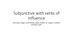 Subjunctive with verbs of influence PowerPoint PPT Presentation
