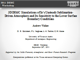 3D DSMC Simulations of Io's Unsteady Sublimation-Driven A