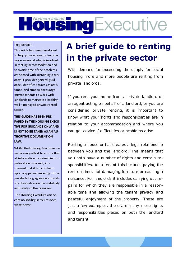 g the supply for social If you rent your home from a private landlord