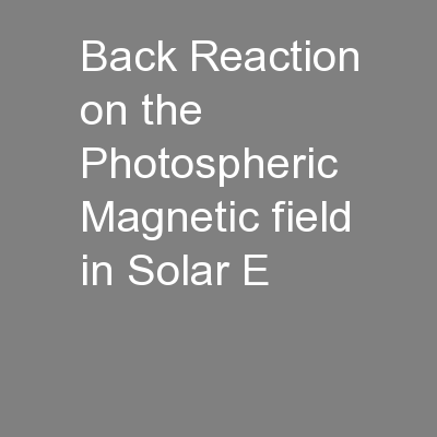 Back Reaction on the Photospheric Magnetic field in Solar E