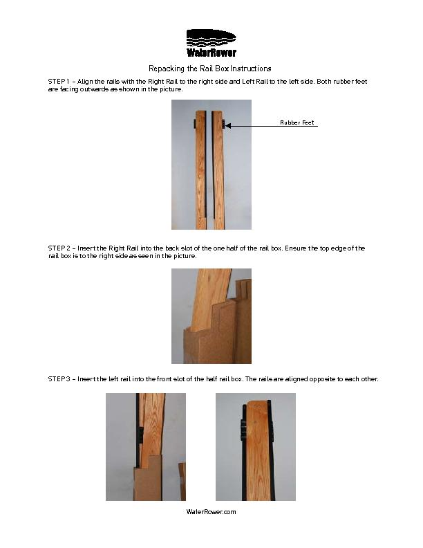 Repacking the Tank Box InstructionsSTEP 1 – Align the rails with