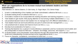 What can organizations do to increase mutual trust
