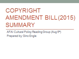 Copyright Amendment Bill (2015)