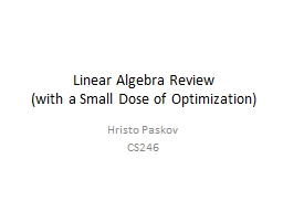Linear Algebra Review PowerPoint PPT Presentation