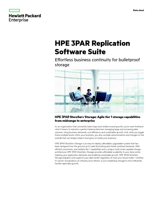 HPE 3PAR StoreServ Storage: Agile tier 1 storage capabilities from mid