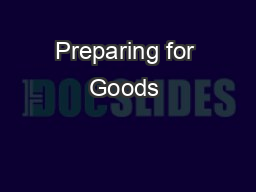 Preparing for Goods & Service Tax