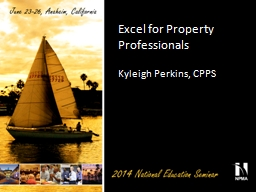 Excel for Property Professionals