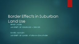 Border Effects in Suburban Land Use
