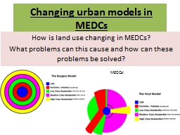 Changing urban models in MEDCs
