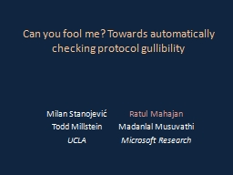 Can you fool me? Towards automatically checking protocol gu