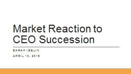 Market Reaction to CEO Succession