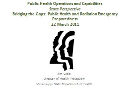Public Health Operations and Capabilities