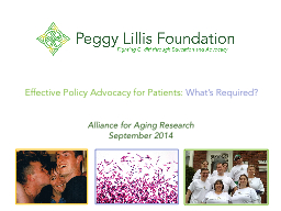 Effective Policy Advocacy for Patients: