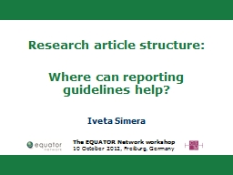 Research article structure: