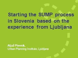 Starting the SUMP process PowerPoint PPT Presentation