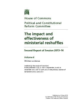 Published on 14 June 2013 by authority of the House of Commons London: